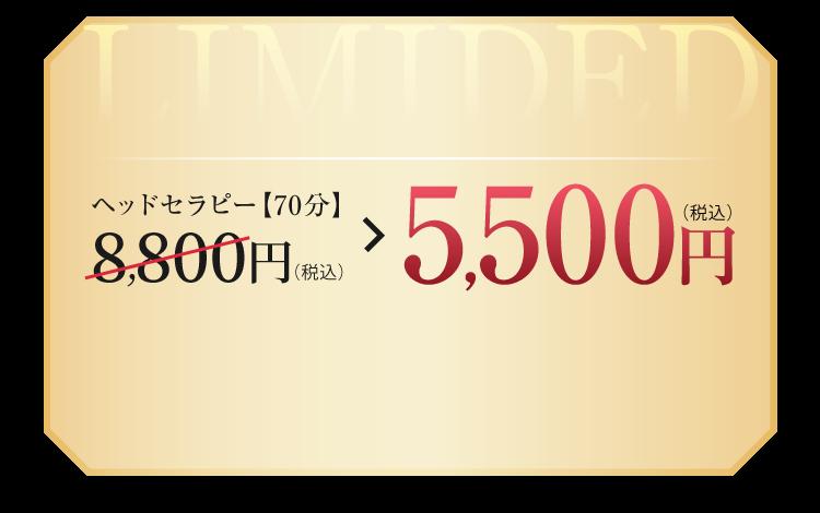 ヘッドセラピー【60分】8,800円(税込)→5,500円(税込)